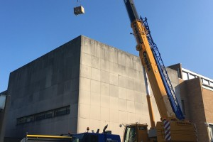 Fitzwilliam Museum Condensing Unit Crane Lift